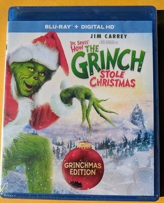 NEW Dr Seuss How The Grinch Stole Christmas Blu-ray NO DIGITAL BLUERAY movie
