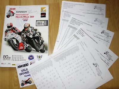 2009 North West 200 NW200 Motorcycle Programme -->> 23 SIGNATURES <<--  1xRIP