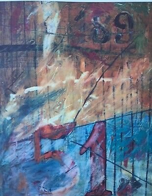 Tzvi Ben-Aretz Israeli Artist Signed And Numbered Contemporary Jasper Johns Rare