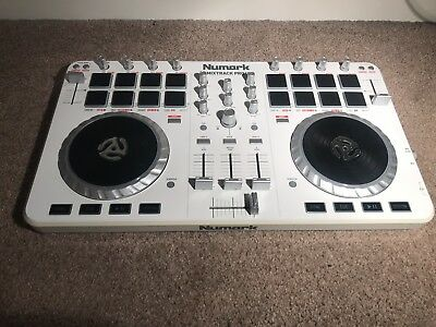 NUMARK MIXTRACK PRO 2 DJ Controller  White Limited Edition  Box Included