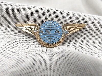 Vintage Pan Am Wings Junior Clipper Stewardess Pin Gold & Blue Enamel