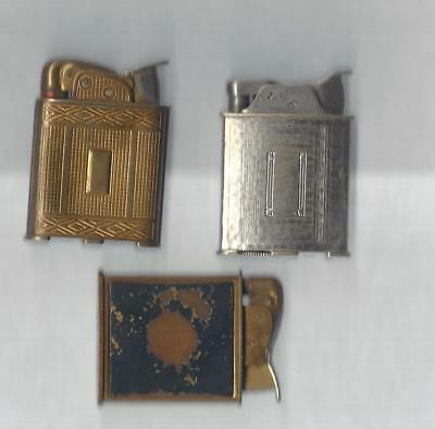 Lot of 3 Evans Lighter for Parts or Repair, See Description