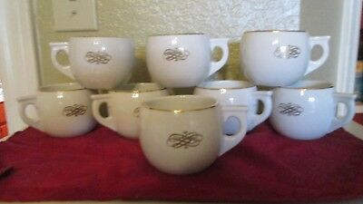Vintage Hall China Old Crow 8 Advertising Punch Cups