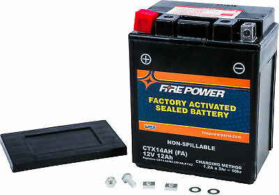 Factory Activated Sealed Battery Fire Power CTX14AH-BS(FA) Replaces YTX14AH