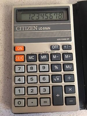 Citizen LC-516N Antigua calculadora vintage funciona Calculator 1985 Japan
