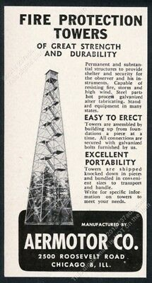 1954 fire ranger lookout tower photo Aermotor vintage trade print ad