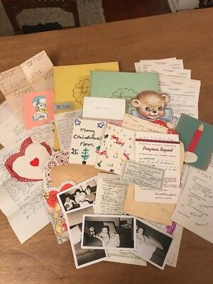 Lot of 2 Vintage Baby Scrapbooks Cards Major Ephemera Valentines Photos Seattle