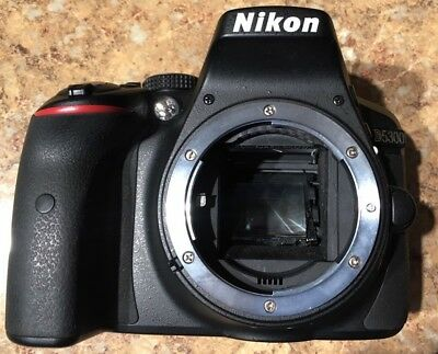 Nikon D D5300 24.2MP Digital SLR Camera Black Body Only for Parts