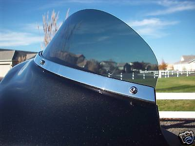 Harley FLHX All Chrome Windshield / No Slots Trim 1996-2013 Touring /  Bagger