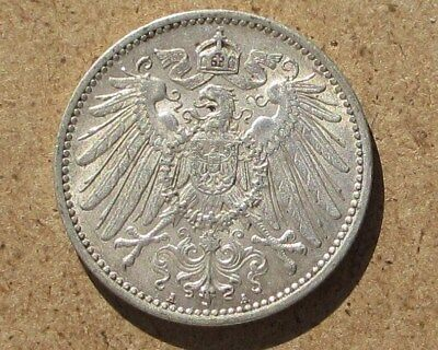 Germany 1915-A Silver 1 Mark Coin KM#14