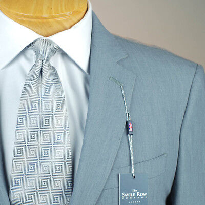 44L SAVILE ROW Solid Grey SUIT SEPARATE  44 Long Mens Suits - SS43
