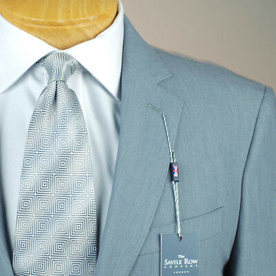 48L SAVILE ROW Solid Grey SUIT SEPARATE  48 Long Mens Suits - SS43