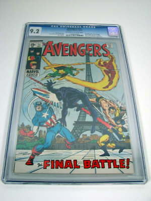 The Avengers The Final Battle #71 Marvel Comics 12/69 Cgc 9.2 Comic Book 1969
