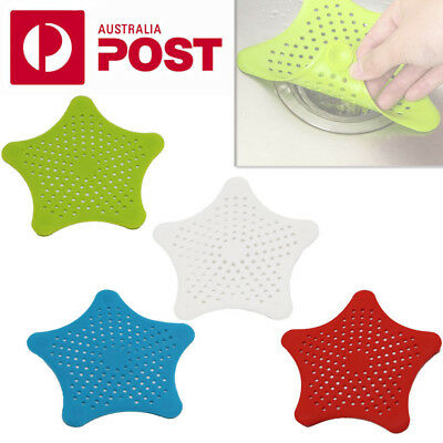 4 x Bathroom Drain Hair Catcher Bath Stopper Sink Strainer Filter Shower Covers