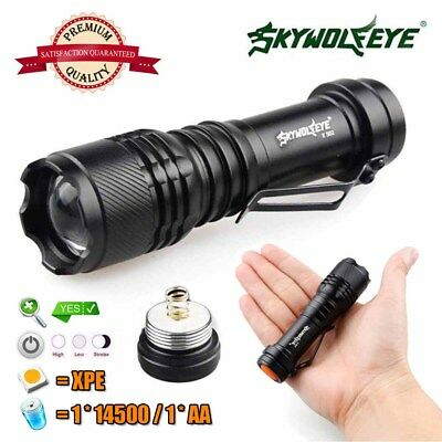 Super Bright 300LM Zoomable LED Flashlight Torch Lamp 3 Modes XPE 14500/AA NEW