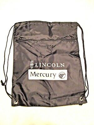 3 LINCOLN MERCURY Drawstring Backpack w/ Zippered Pocket Cinch Sack NEW LOT Ford