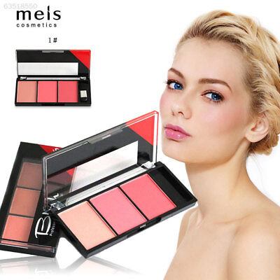 954D 3 Colors Blusher Face Contour Cosmetic Waterproof Blush Palette Natural