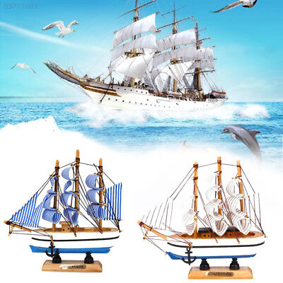 9161 Mediterranean Sail Boat Model Craft Wood Ship Nautical Household Decoration