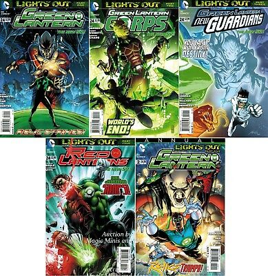 Green Lantern #24 LIGHTS OUT Set pt 1 2 3 4 5 Corps Red Annual Guardians NEW 52
