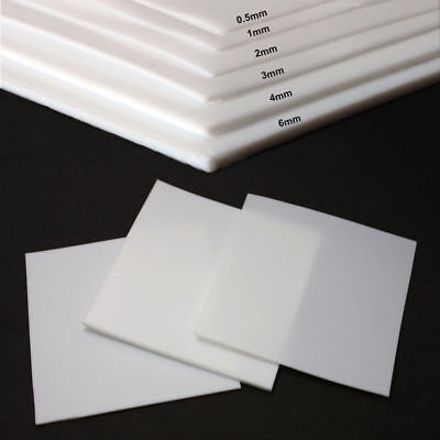 """4 mm PTFE sheet 150 mm high temperature-low friction 5.90/"""" x 100 mm 3.93/"""""""
