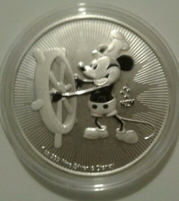 🌟2017 Nuie 1oz Silver $2 Coin Mickey Mouse Disney Classics - Steamboat Willie🌟