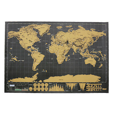 1/5/10/20pcs Deluxe Scratch Off World Map Travel Wall Poster Small Travel Maps