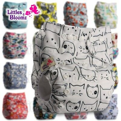 Baby Washable Reusable Real Cloth Pocket Nappy Diaper Cover Wrap, suits Birth to