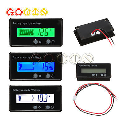 6-63V LCD Acid Lead Lithium Battery Capacity Indicator Digital Voltmeter Voltage
