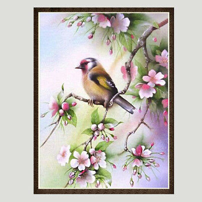 5D Diamond Painting Decor Drill Embroidery Cross Stitch Birds Flowers Picture BS