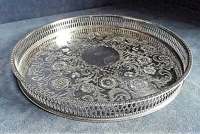 """SUPERB 10"""" ~ SILVER Plated ~ Georgian Style ~ GALLERY TRAY ~ 26cm by Viners"""