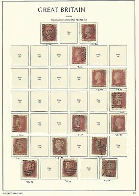 Great Britain Stamp Collection on Lighthouse Page 1858-64, #33, SCV $63
