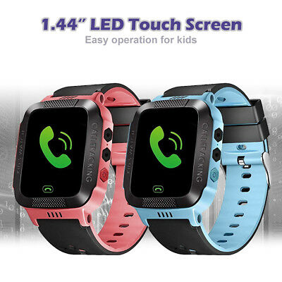 Kids Girl Smart Watch 1.44in LCD Touch Screen with Anti-Lost Phone GPS Tracker