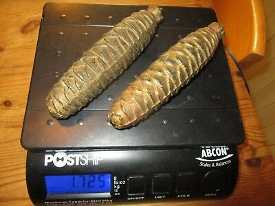 Antique Cuckoo Clock Weights / Pair of large Pine Cone Clock weights - 1.7 Kg