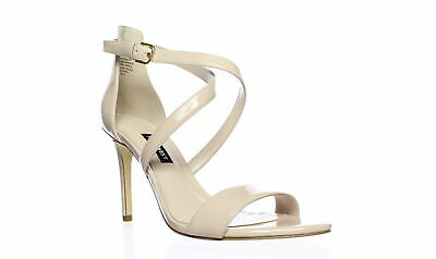 NINE WEST Damenschuhe Mydebut Light Natural Natural Natural Ankle Strap Heels Größe 7 ... 0b0247