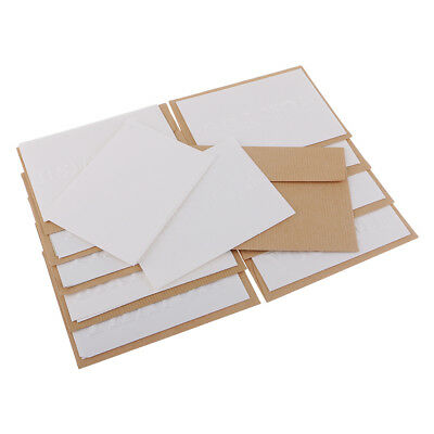 10 Embossed Pure White Blank Greeting Cards & Envelopes for Wedding Birthday