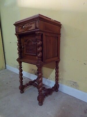 Chateau Carved antique bedside cabinet  C1890