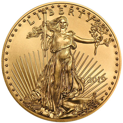 2019 $25 American Gold Eagle 1/2 oz Brilliant Uncirculated