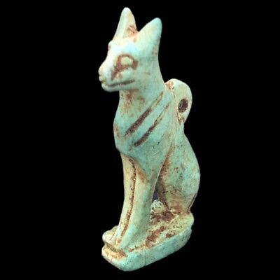 Beautiful Ancient Egyptian Cat Amulet 300 Bc (1)