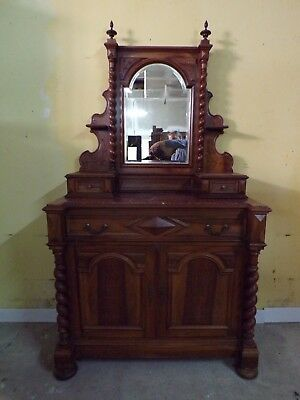 Chateau Carved Antique Dressing table C1890