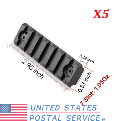5Pcs Tactical Keymod7 Slot Picatinny Weaver Rail Handguard Section For Hunting