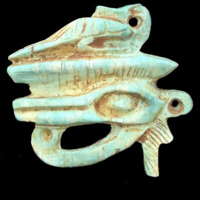 Beautiful Ancient Egyptian Eye Of Horus Amulet 300 Bc (1)