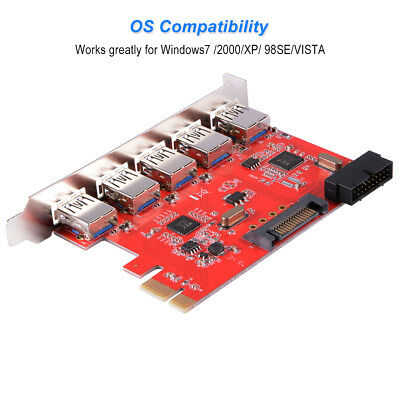 PCI-Express to 5-Port Interface USB 3.0 w/ 20Pin Connector Controller Card AC583
