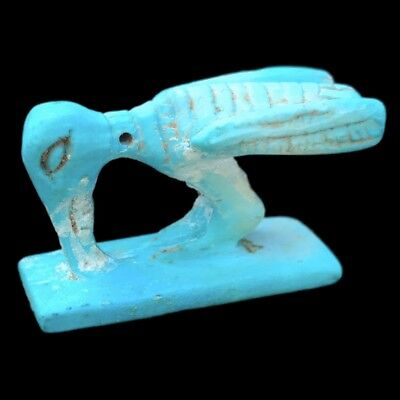 Beautiful Ancient Egyptian Blue Animal Amulet 300 Bc (6)