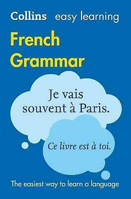 Easy Learning French Grammar by Collins Dictionaries (French) Paperback Book Fre