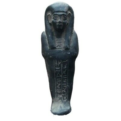 Egyptian Hieroglyphic Shabti, Late Period 664 - 332 Bc Large 14Cm Tall !!!!! (7)