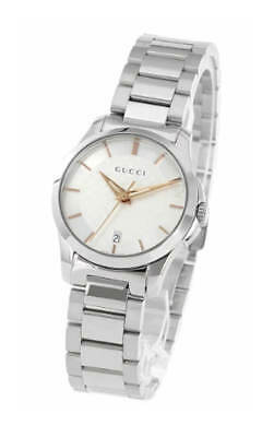 ef9b1ca4ca0 GUCCI G-TIMELESS SILVER Dial 27MM Yellow Gold-tone Steel Women Watch ...