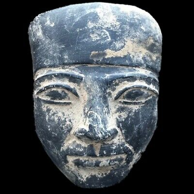 BEAUTIFUL ANCIENT HUGE EGYPTIAN STONE MASK 300 BC (1) 11.8 Cm Tall !!!!!