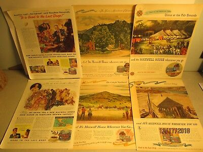 Lot Of 18 Vint.ads:maxwell House Coffee;aunt Jemima,1910;pear's Soap,1898;rogers