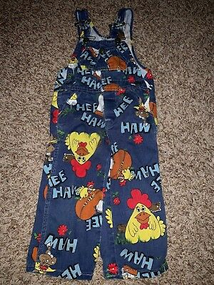 LIBERTY Toddler HEE HAW overalls vintags sz 2 Cute