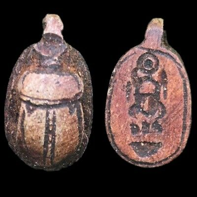 Beautiful Ancient Egyptian Scarab Amulet 300 Bc (2)